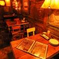 【1F】窓側のテーブル席団体宴会にもご利用いただけます。[鹿児島/天文館/バル/飲み放題/宴会/イタリアン/肉/貸切/個室/サプライズ/誕生日/女子会/二次会/ピザ/カフェ夜カフェ]