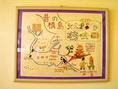 手作りのタペストリー。地元槇島の歴史をご紹介しております。