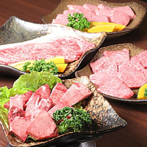 【極上】豪華特選コース!!全て特選のお肉に肉寿司まで存分に味わえる150分飲放題付 6980円