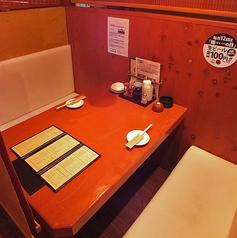 テーブル席も多数ご用意!周りがあまり気にならない造りなので、お子様連れも安心ですよ!