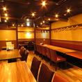 ゆったりとお寛ぎいただける掘りごたつ個室もご用意いたしております。会社でのご宴会や、ご友人同士の飲み会にもおすすめ◎様々なシーンにに合ったお席をご用意させていただきますので、お気軽にお問い合わせください!
