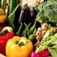 ◆有機無農薬野菜を使用!安心、安全への徹底的なこだわり。お客様に安心してお召し上がり頂けるよう、食材のすべてを時間をかけて厳選。彩り鮮やかなヘルシー野菜が、ご宴会に華を添える。