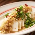 料理メニュー写真島豆腐の島らっきょソース