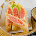 料理メニュー写真博多明太子の天ぷら