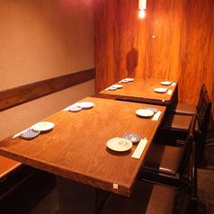 8名様まで収容可能なテーブル席になります。