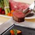 料理メニュー写真みっかび牛ランプ肉のロースト 浜松産玉葱の和風ソース(2020春のパーティプラン)