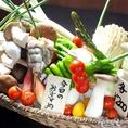 ≪こだわり4≫新鮮野菜も大人気!県内産を中心に、季節ごとの野菜が食べれます。串焼やサラダで♪