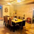 半個室的空間!テーブル席★8席(1卓)+休憩ソファ席3名/TVも付いてる贅沢な空間…☆フロア貸切:5名から予約可能です♪最大人数は11名♪イベント/パーティー/セミナーなどに人気◎ママ友/地元の方々/家族のご利用の多いフロアです★