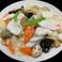 イカと季節野菜炒め