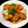 白身魚甘酢炒め