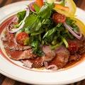 料理メニュー写真ローストビーフとクレソンのサラダ