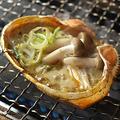 料理メニュー写真自家製蟹味噌きのこ甲羅焼