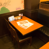 ≪2~4名様用:テーブル席≫明るく開放的な店内。広々としておりますので、わいわいとお楽しみいただけます♪こだわり食材を使用したおすすめ料理を是非ご堪能ください。