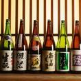 福島の地酒をはじめ、豊富な銘柄日本酒を取り揃えております。