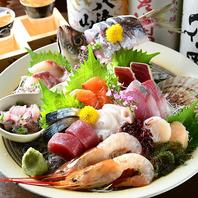 伏見店の鮮度と味のこだわり。自慢の「新鮮魚貝」。