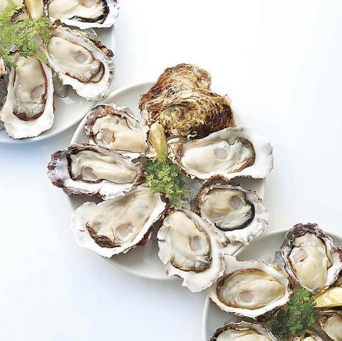 安全品質ファイブスターの生牡蠣「ミネラルオイスター」をご提供いたします。