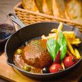料理メニュー写真肉バル特製ハンバーグ