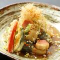 料理メニュー写真揚げ豆腐と生麩のおろしべっ甲あんかけ