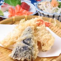 焼き鳥、天ぷら、刺身‥居酒屋メニュー満載♪