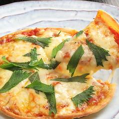 青じそ&トマトのピザ