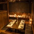 貸切宴会は最大47名様までご案内可能。広々とした店内は、テーブル席、掘りごたつ席をご用意しております。ご人数、ご予算などもお気軽にご相談ください。