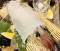 料理メニュー写真【大人気】イカの活き造り※後造り⇒お刺身or天ぷらor塩焼きでお選び頂けます『イカの活き造りコースあり』