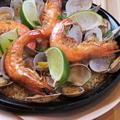 料理メニュー写真ワタリガニのパエリア