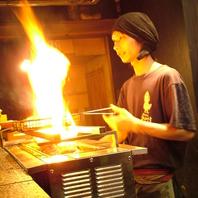 豪快な炭火で一気に焼き上げる!名物の「じとっこ焼き」
