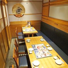 和を基調とした雰囲気の良い完全個室。合コンや仲間内での飲み会に♪個室席は人気のため、事前にご予約いただくことをおすすめします☆