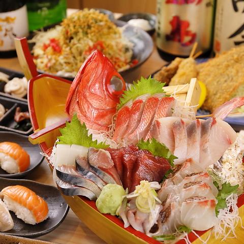 ご家族やお仲間と【3時間飲み放題付】旬の食材を味わい尽くす プチ贅沢コース5000円(税込)
