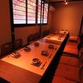 宴会に人気のお座敷個室は、人数に合わせてお席をご用意。最大30名様まで◎
