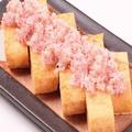 料理メニュー写真炙りズワイガニの出汁巻たまご