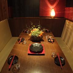 【半個室】4~6名様用。カーテンで仕切られた各お席はまるで個室のようにお使いいただけます!
