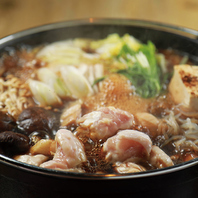 ご飯と相性◎奥三河鶏使用の「とりすき鍋」は絶品。