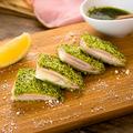 料理メニュー写真緑のガーデンハムカツ Fried Ham