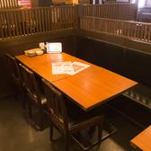 ≪2~4名様用:テーブル席≫片側がソファーになっているタイプはお子様がいても安心♪ご家族でのご利用も大歓迎です!