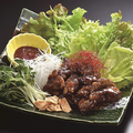料理メニュー写真牛カルビ焼肉の野菜巻き