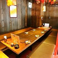 人数に合わせたテーブル席、掘りごたつ席をご用意!
