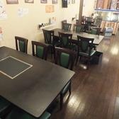 4人かけテーブル席