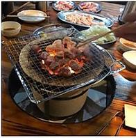 七輪で焼く美味しい焼肉♪