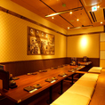 【3F】20名様~62名様の掘りごたつ個室。盛り上がってください。広々とした空間なので長時間の宴会にも最適です◎