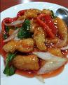 料理メニュー写真酢豚、黒酢酢豚、鶏肉の黒味噌炒め、鶏肉とカシューナッツ炒め