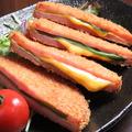 料理メニュー写真大葉とチーズのハムカツ