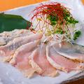 料理メニュー写真朝引き鶏のたたき(ポン酢orユッケ風)
