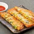 料理メニュー写真海鮮と九条葱のチヂミ