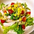 料理メニュー写真焙煎ごまの蒸し鶏サラダ