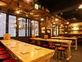 【源七商店2F】みんなが集まる大衆居酒屋☆キレイな店内は女性のお客様にも好評です。