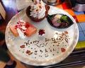 料理メニュー写真【お誕生日に・記念日に!】お祝いデザートプレート