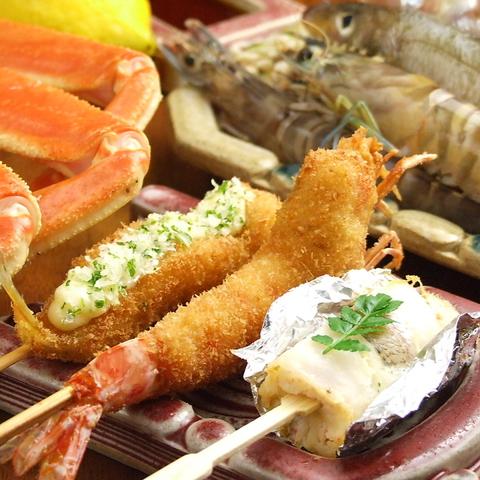 創業68年!!知る人ぞ知る大阪の老舗。旬素材を贅沢に使った極上の串揚げをぜひ…
