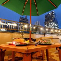 【VIP円卓Terrace Parasol席】4名~10名までご利用頂けるお席です。